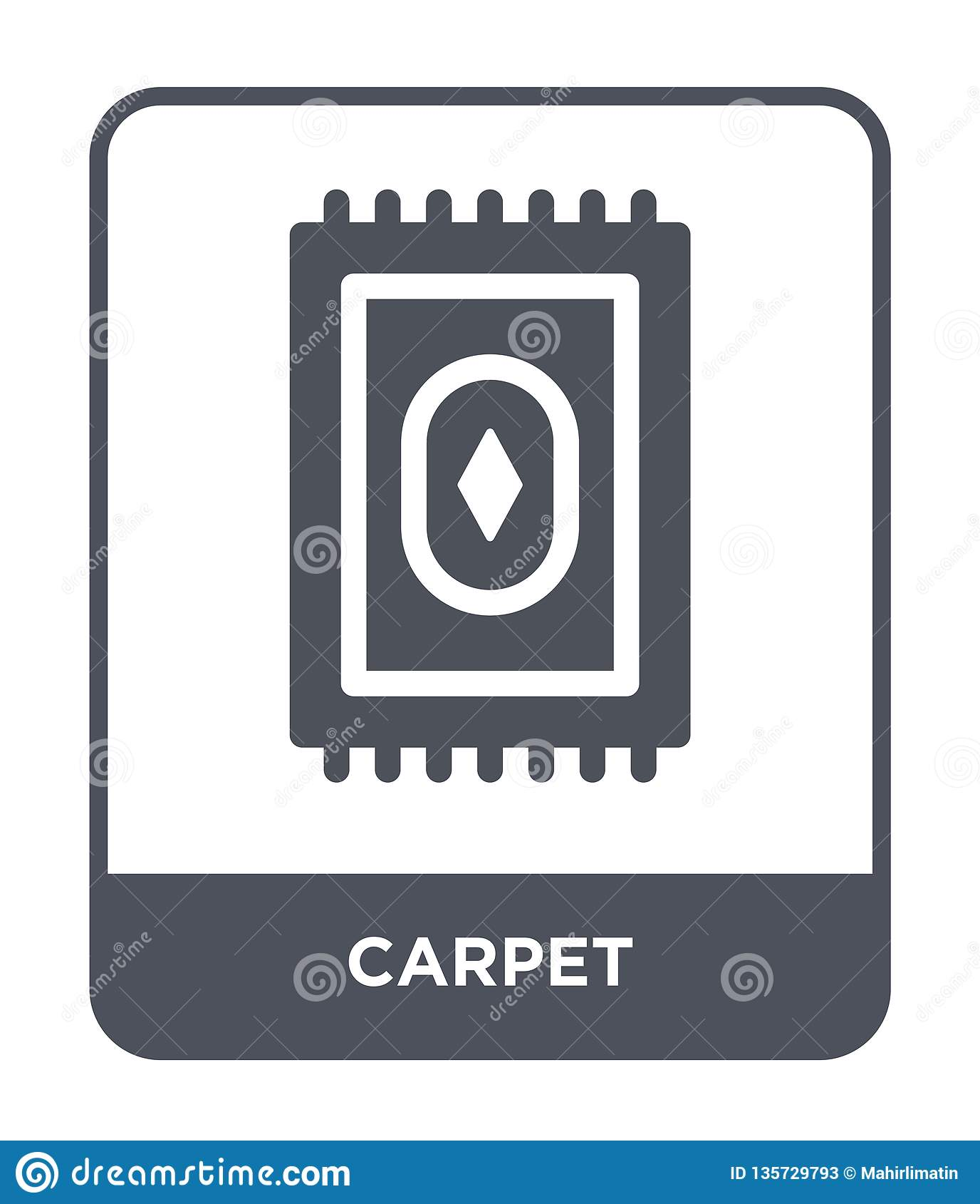 carpet icon in trendy design style. carpet icon isolated on white background. carpet vector icon simple and modern flat symbol for
