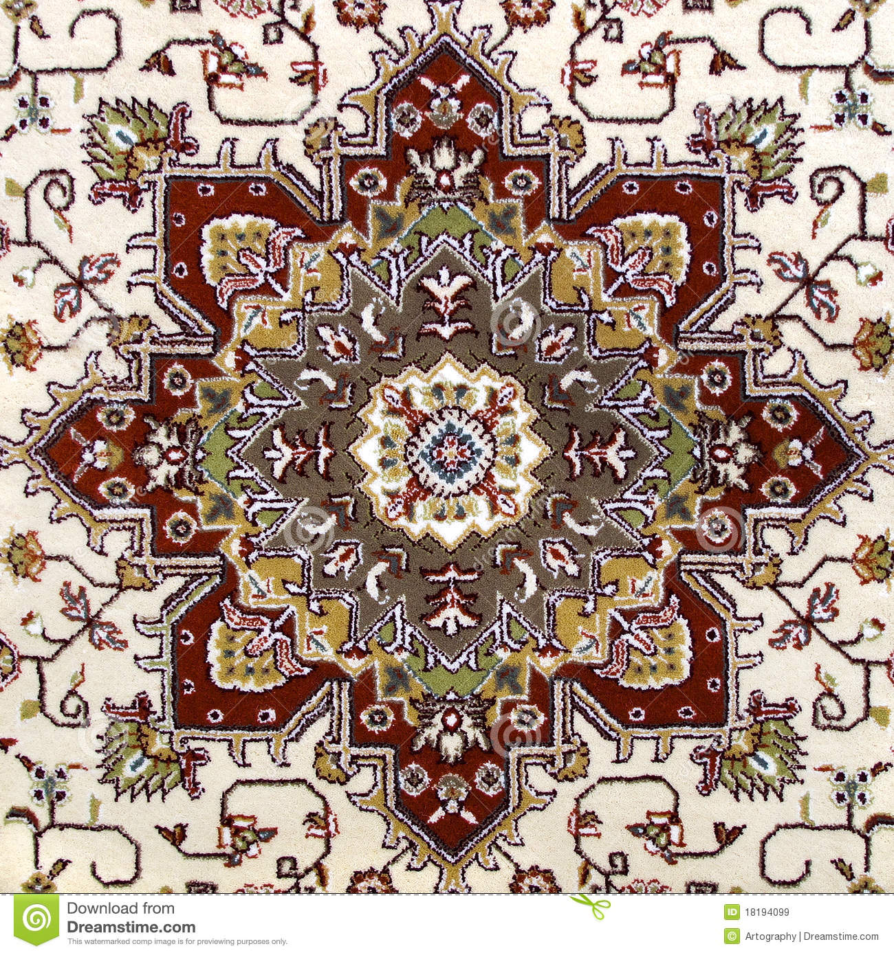 Persian Patterns: Carpet Pattern Stock Image. Image Of Asian, East