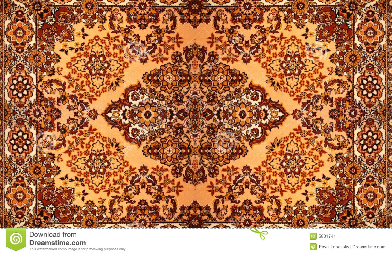 Carpet With Pattern Stock Image Of Floral Fabric