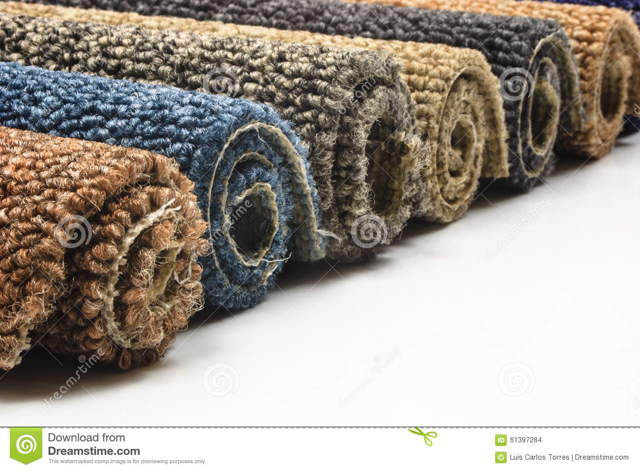 Carpet Rolls Stock Photo Image Of Gray Roll Brown