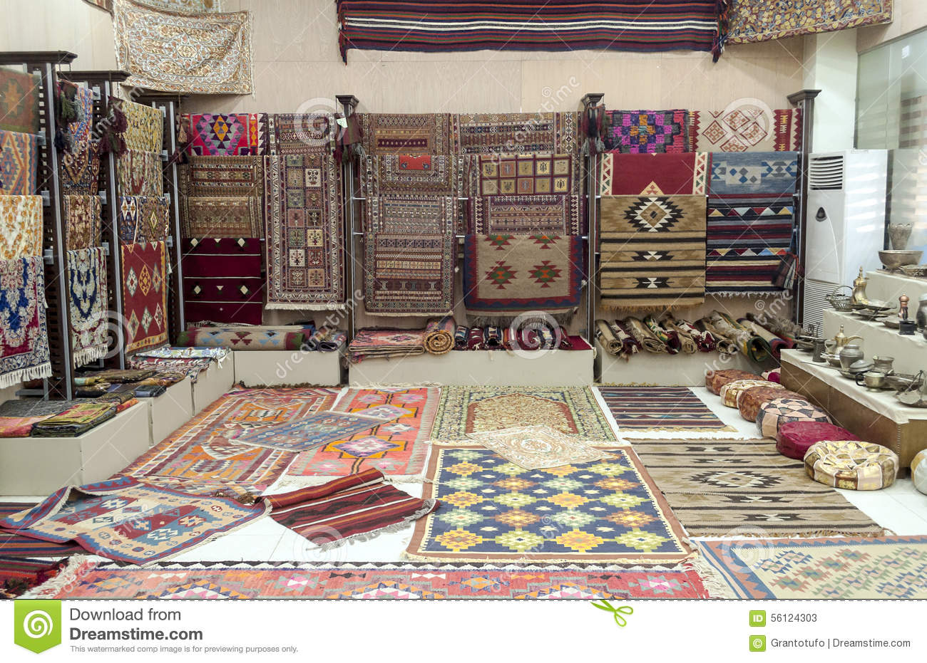 Carpet shop stock image image of carpet handicraft for Living room amman