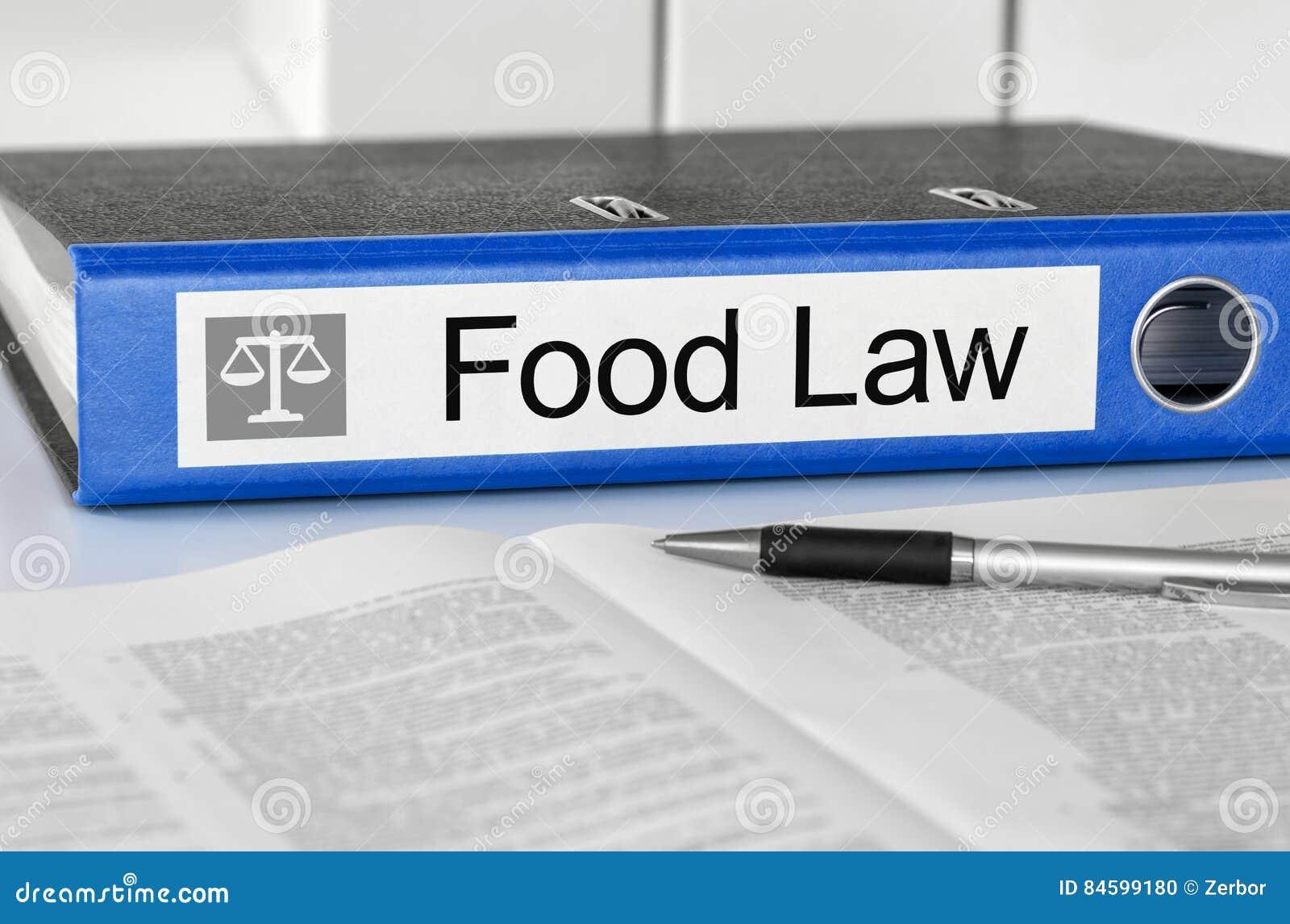 Carpeta con la normativa alimentario de la etiqueta