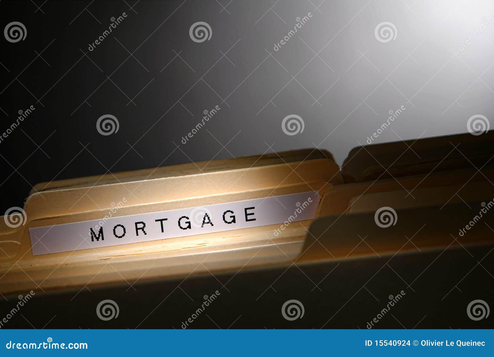 Carpeta de fichero de la hipoteca