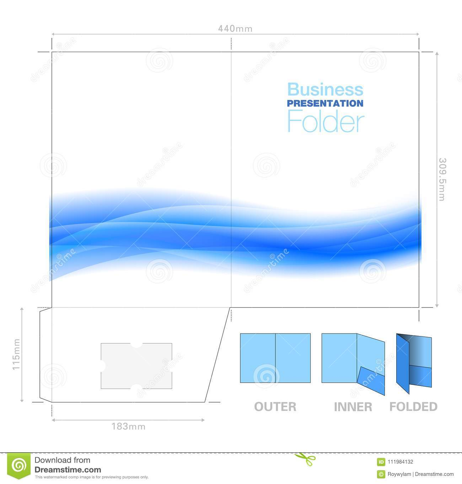 Carpeta A4, Plantilla De La Presentación Con El Gráfico Del Fondo ...
