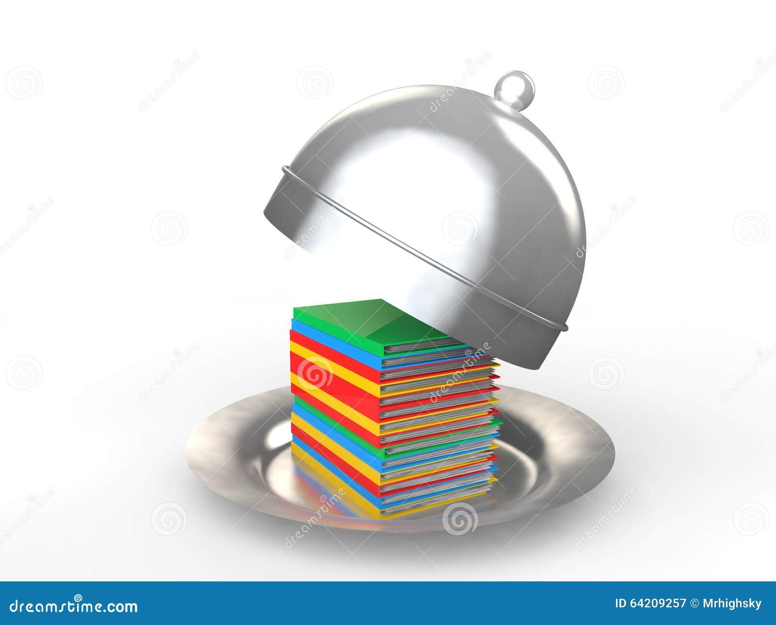 Carpetas de archivos 3d en un concepto de la carga de trabajo del disco de la porción