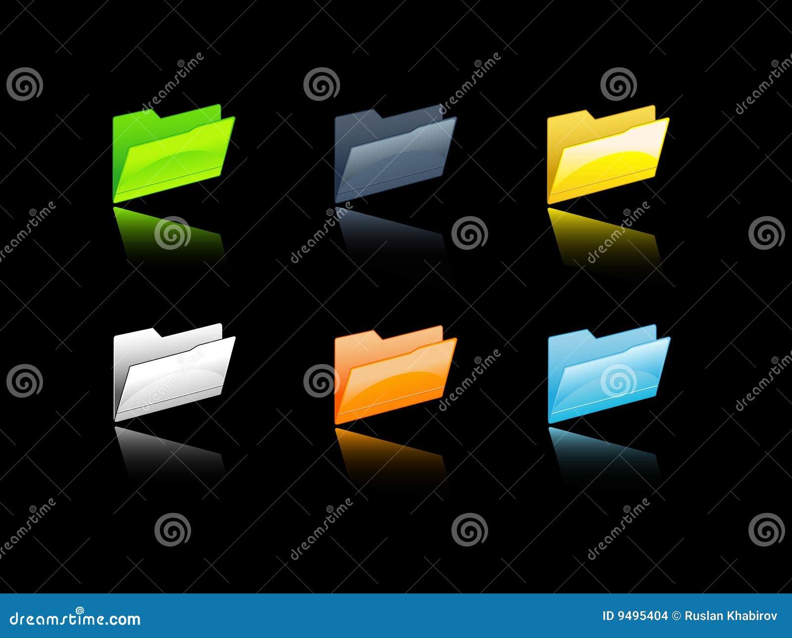 Carpetas de fichero coloridas