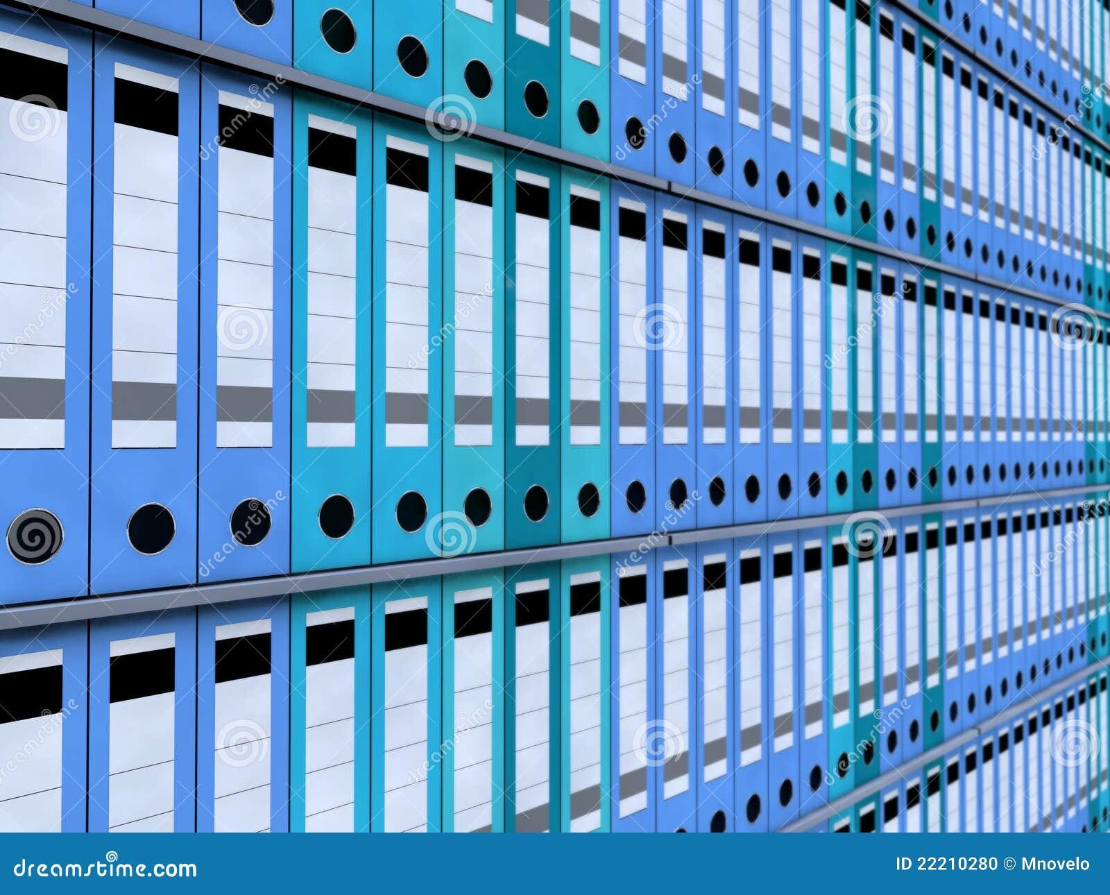 Carpetas de la oficina foto de archivo imagen 22210280 for Carpetas para oficina