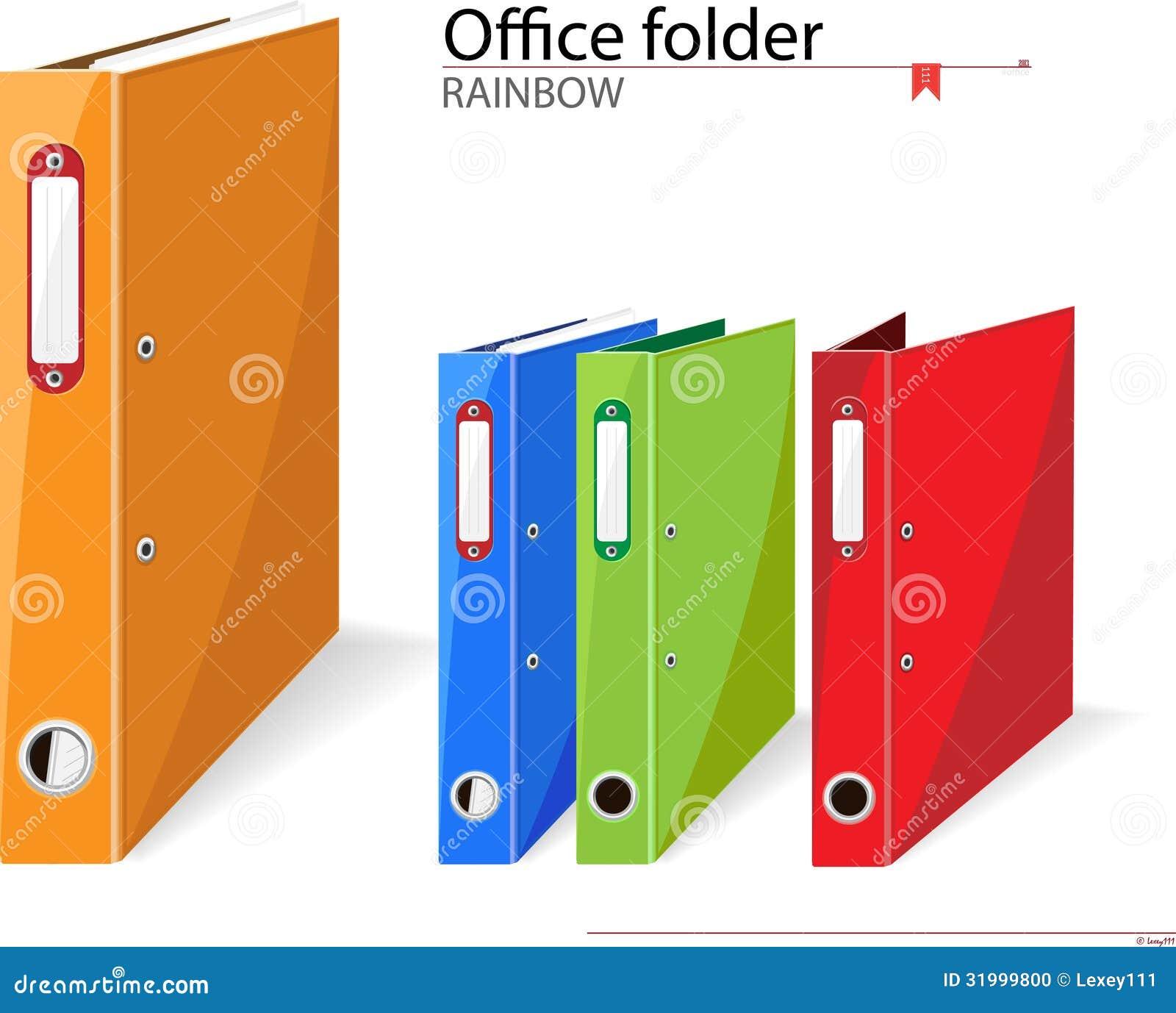 Carpetas de la oficina foto de archivo imagen 31999800 for Carpetas para oficina
