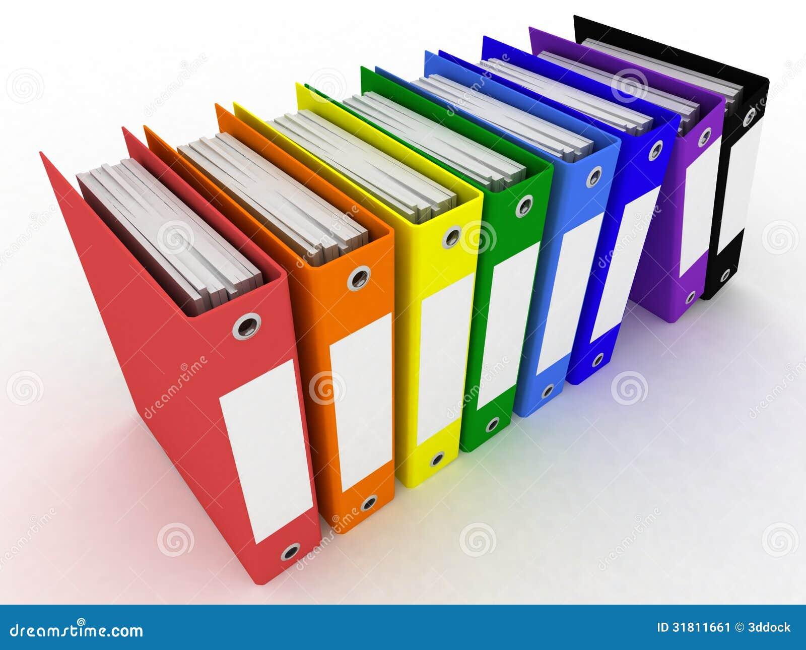 Carpetas para los papeles stock de ilustraci n imagen de for Carpetas para oficina