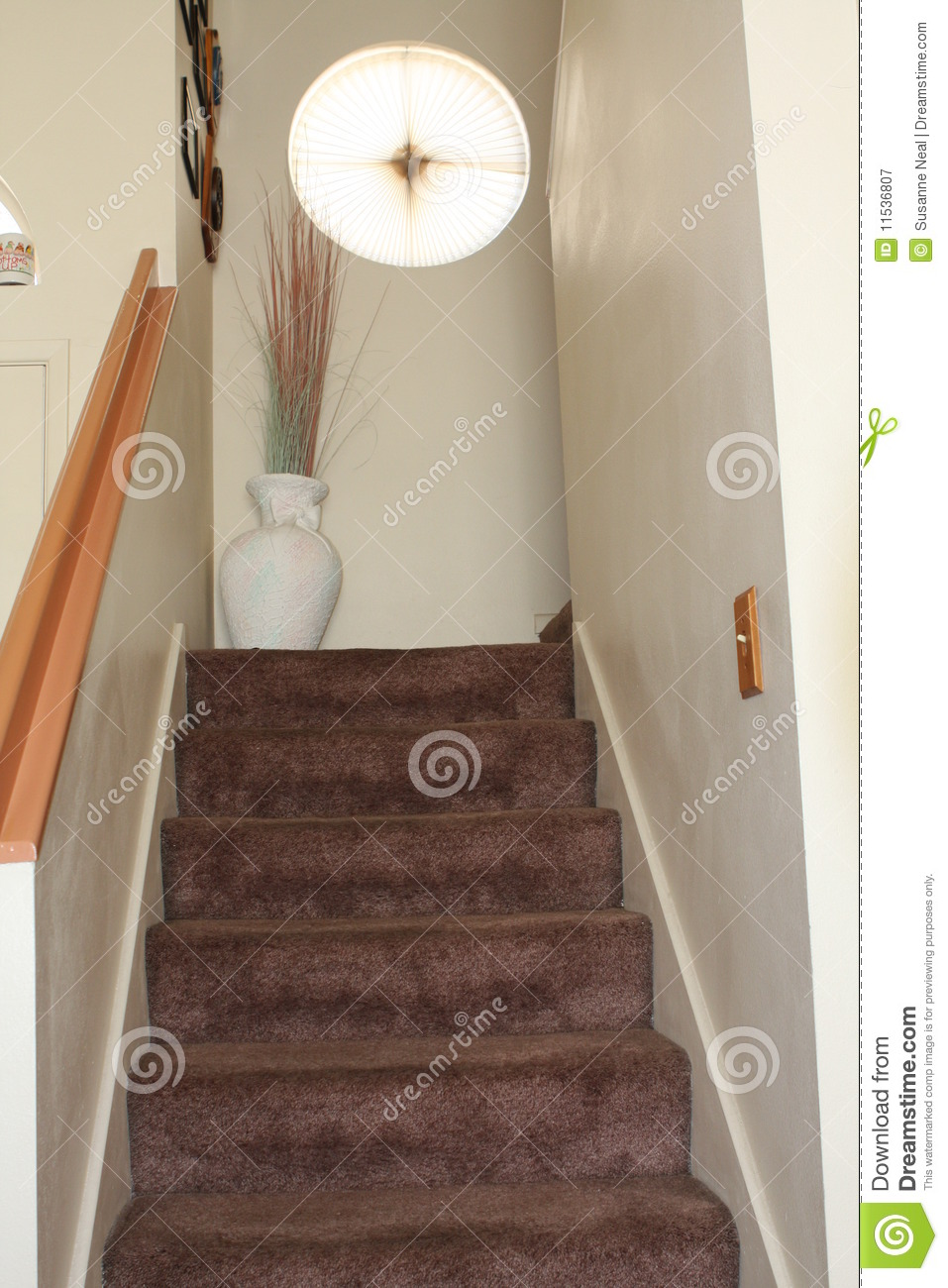 Carpeted Stairs In Home Royalty Free Stock Photography