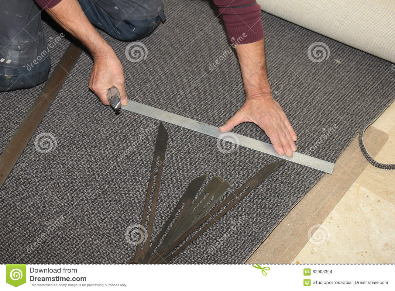 Carpeting a staircase