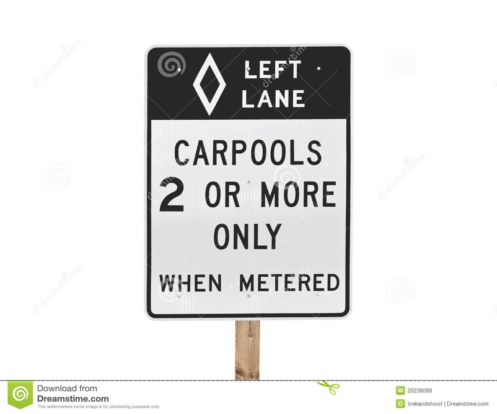 Carpool Sign Isolated Stock Image Image Of Diamond Traffic 20238099