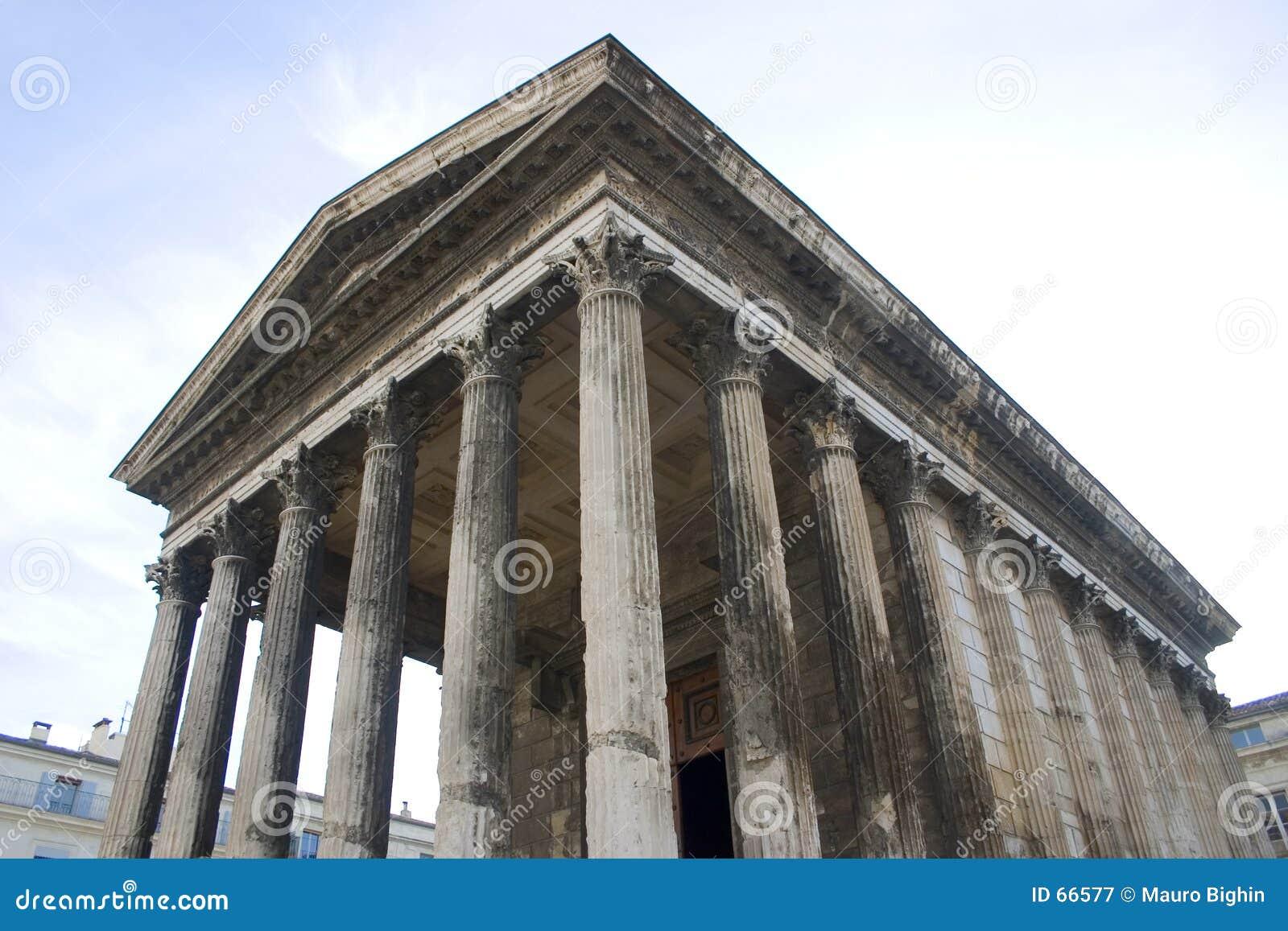 Carr ρωμαϊκός ναός της Γαλλίας maison Νιμ