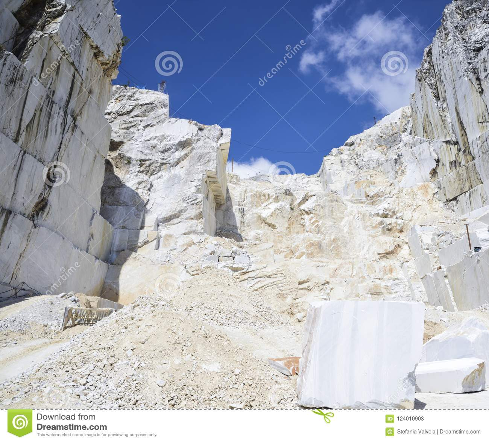 Carrara Marble  Quarry On The Apuan Alps, Tuscany, Italy