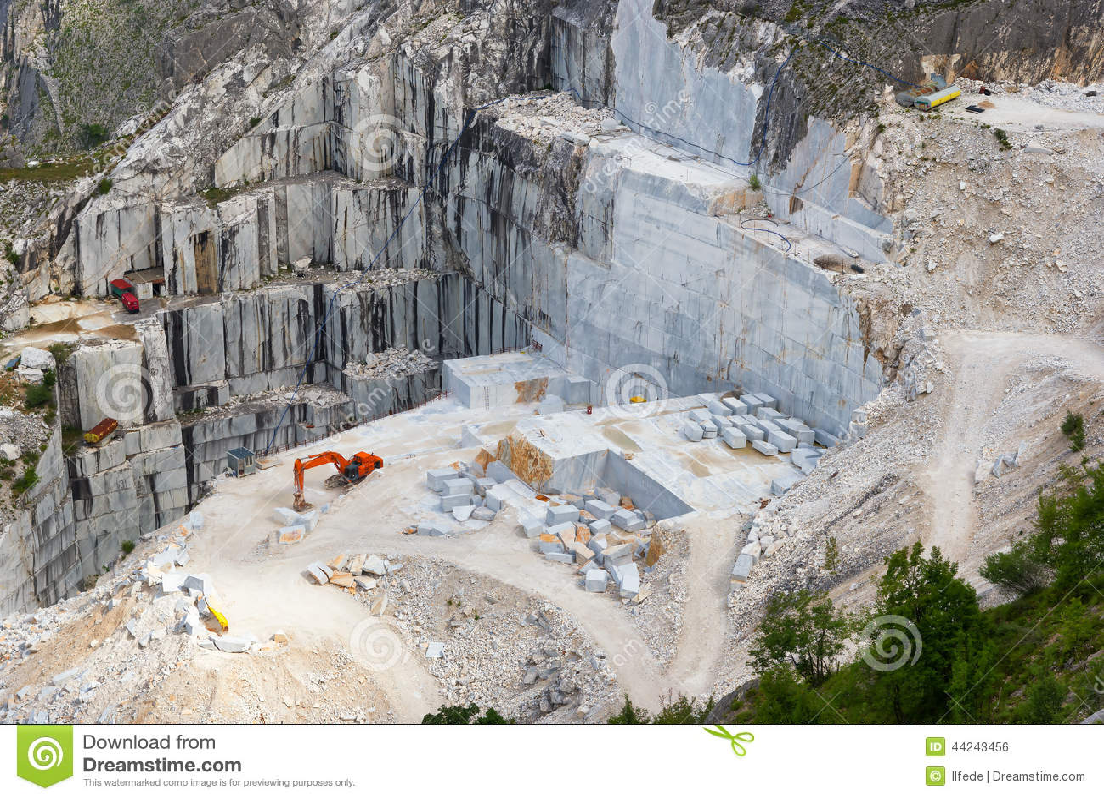 Carrara Marble Quarry Tuscany Stock Photo Image 44243456