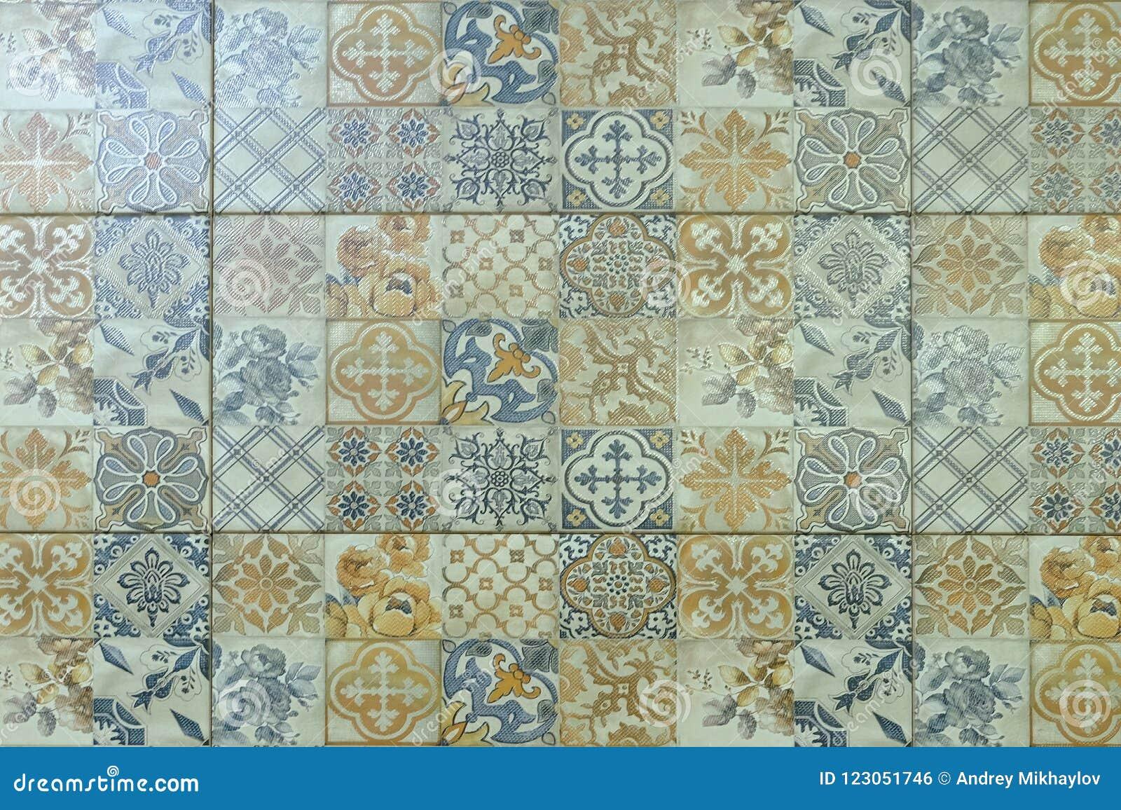Modèle Carreaux Pour Cuisine carreaux de céramique avec des ornements mosaïque, carreaux