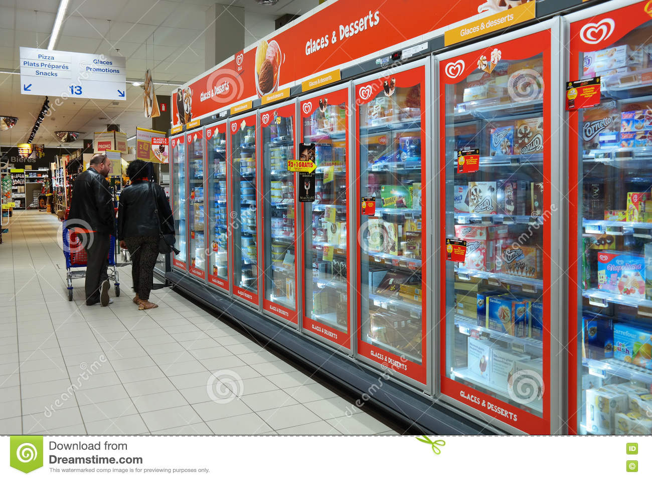Carrefour Hypermarket Interior Stock Images Download 25 Royalty