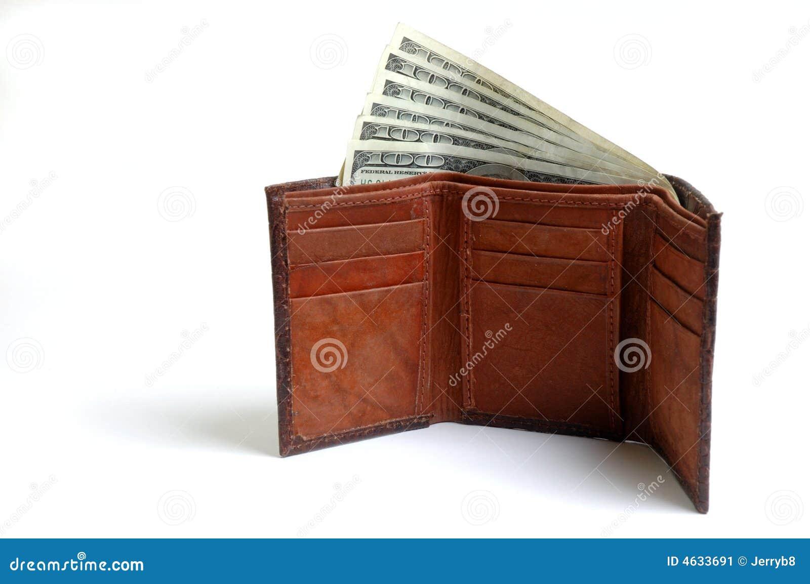 Carregado com as notas de banco