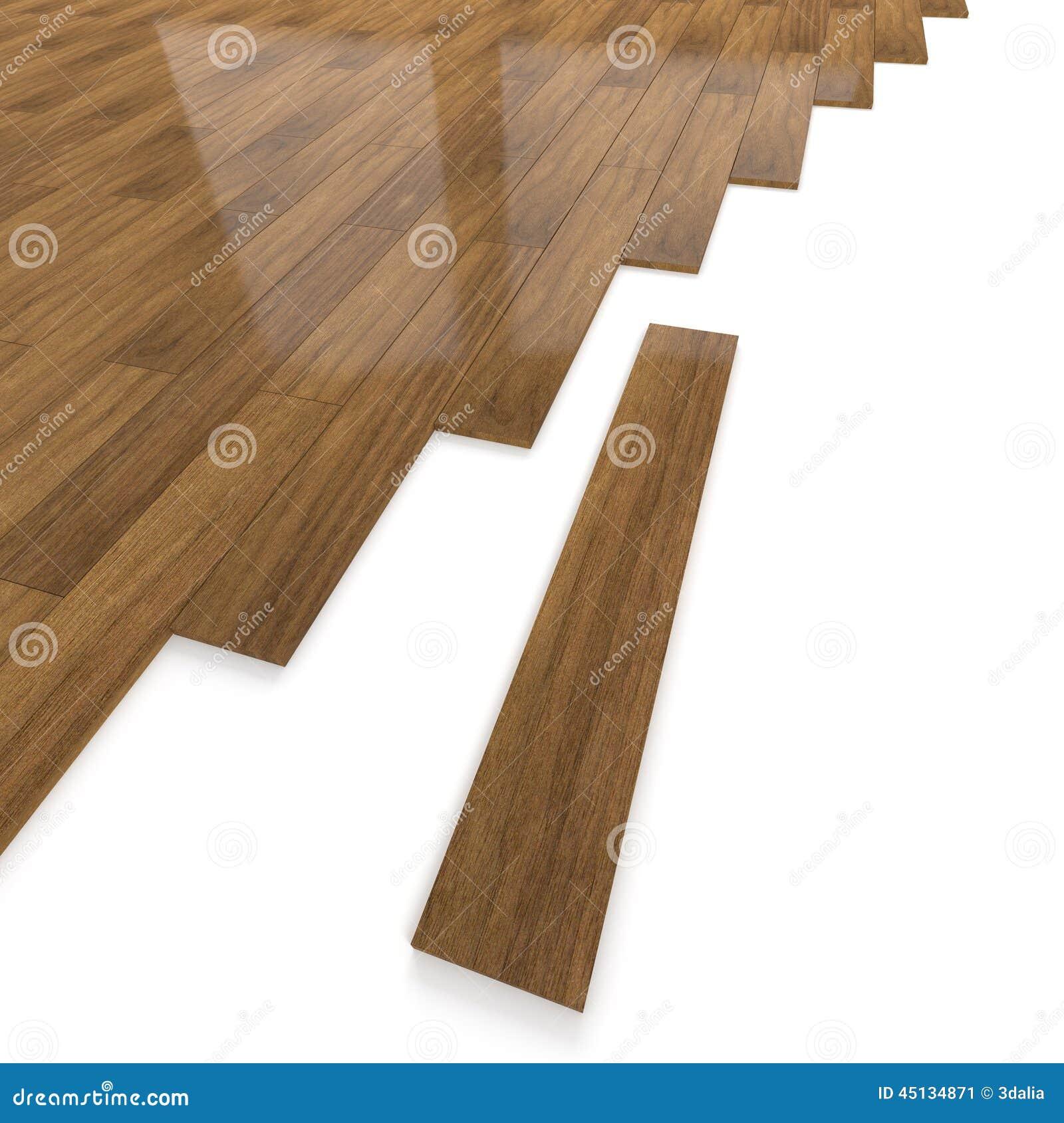 Carrelage en bois fonc du plancher 3d illustration stock for Carrelage plancher bois