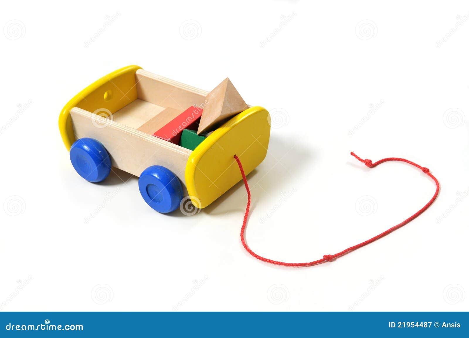 Carrello di legno del giocattolo