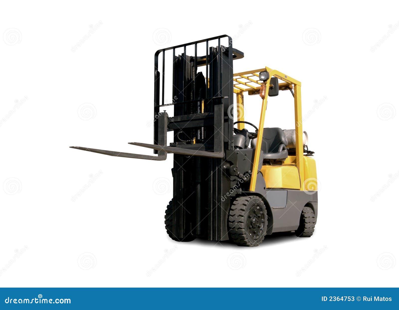 Carrello elevatore a forcale giallo