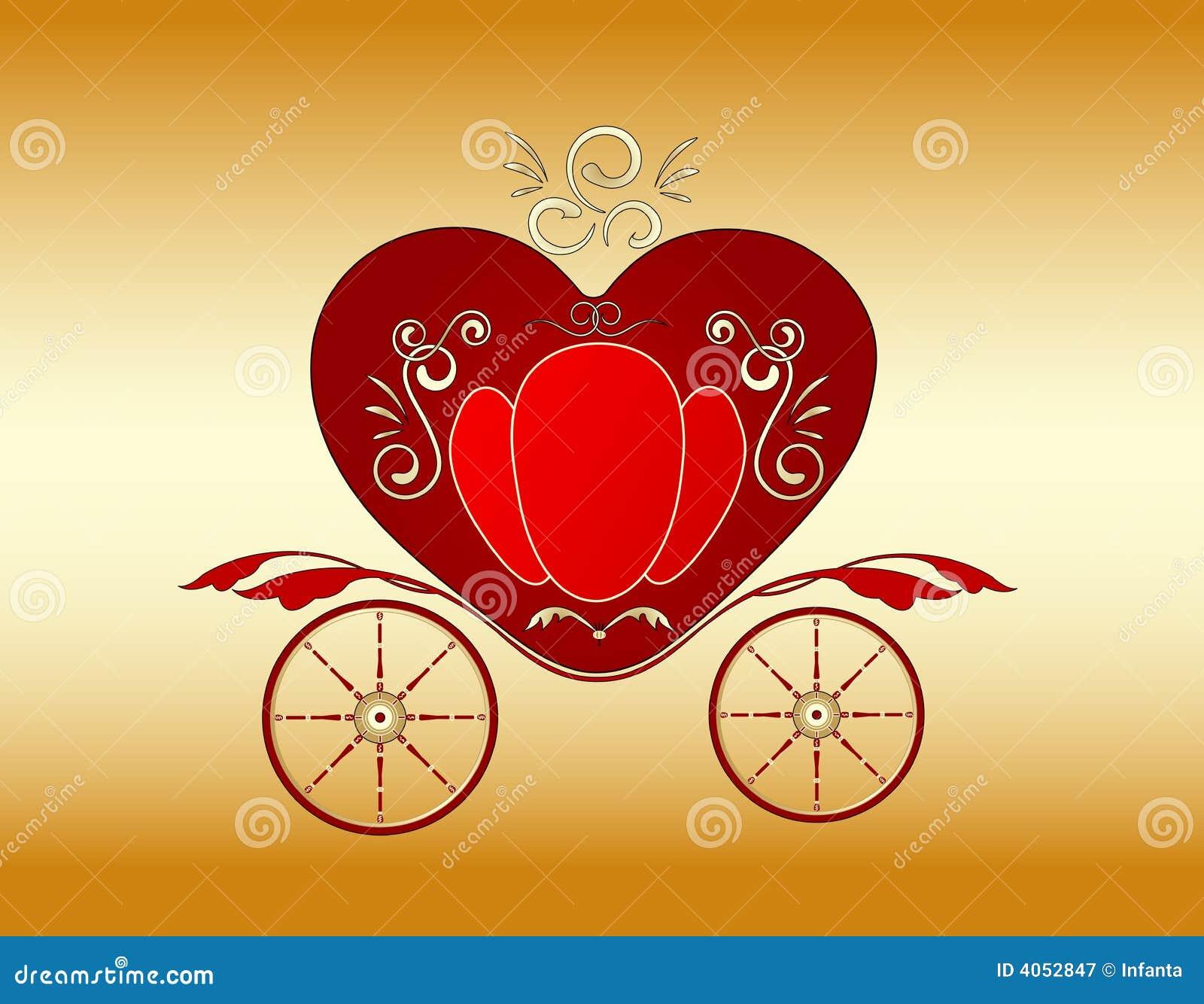 Carrello reale del biglietto di S. Valentino