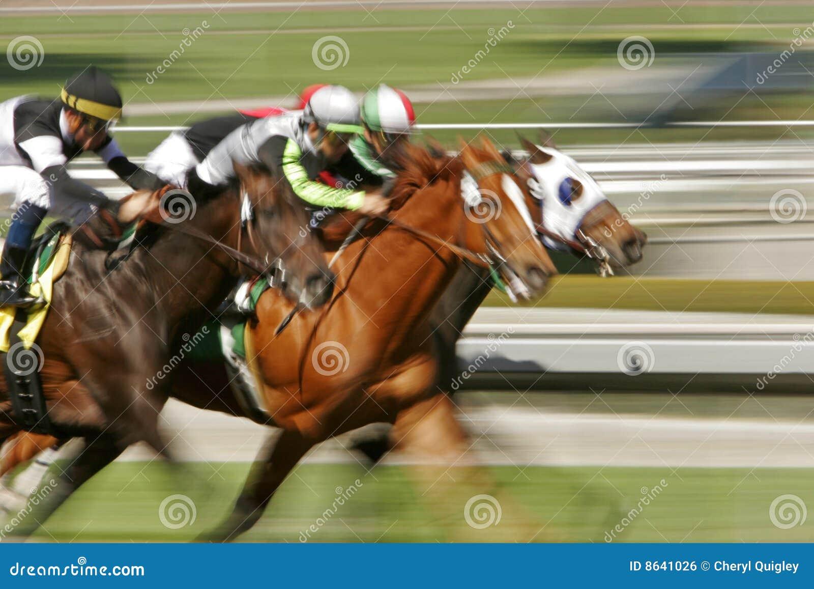Carrera de caballos abstracta de la falta de definición