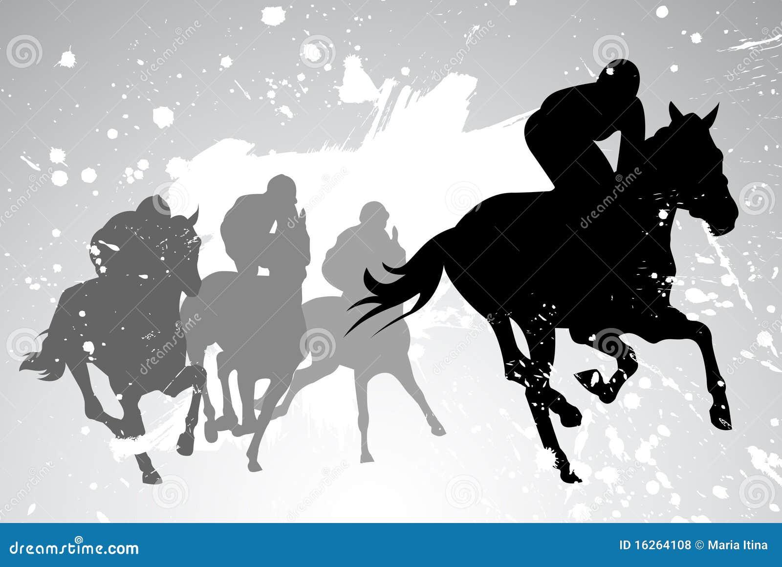 Carreras de caballos del vector