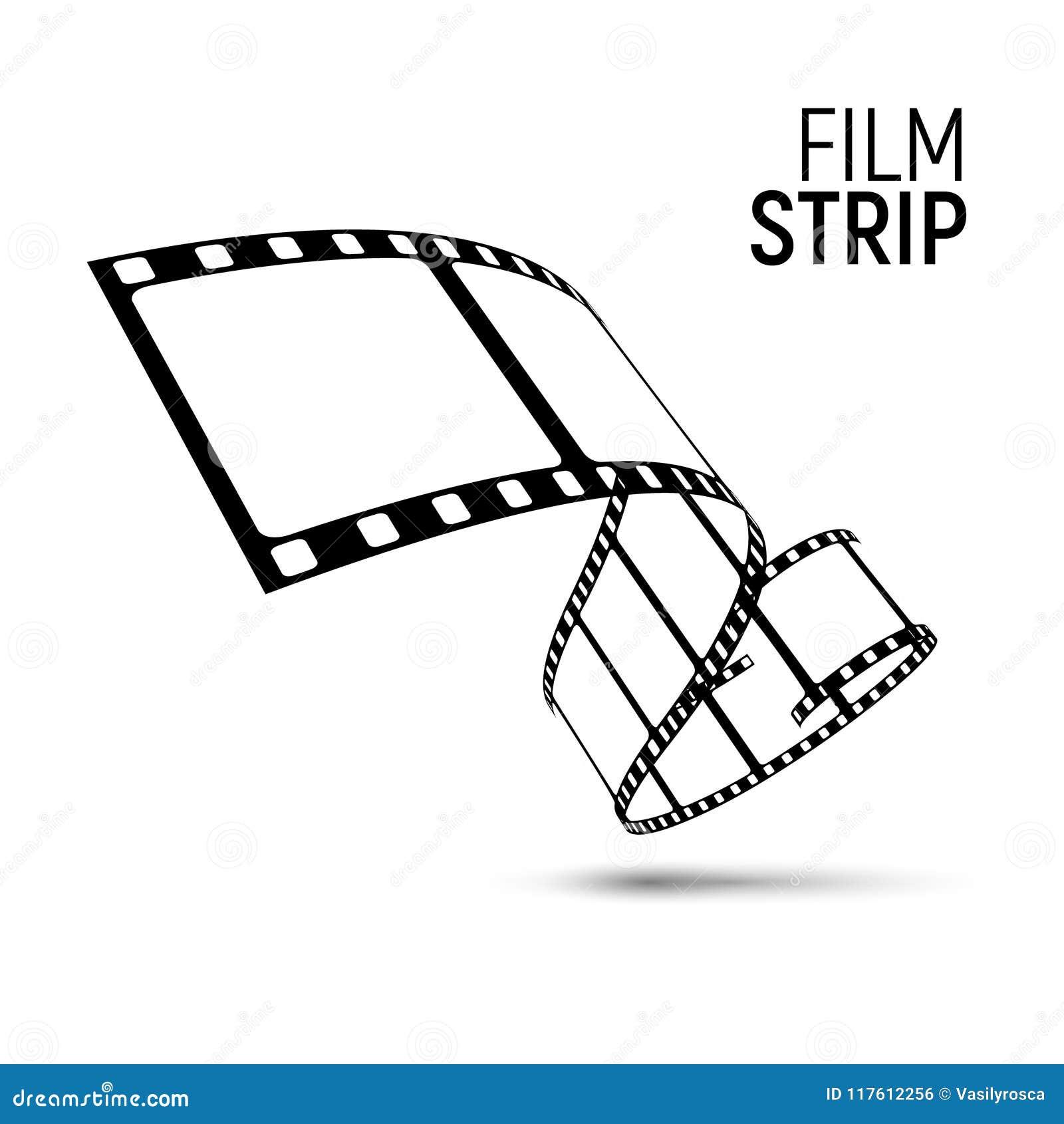 Carretel Da Tira Do Filme Do Vetor Fundo Da Fita Do Diafilme Do