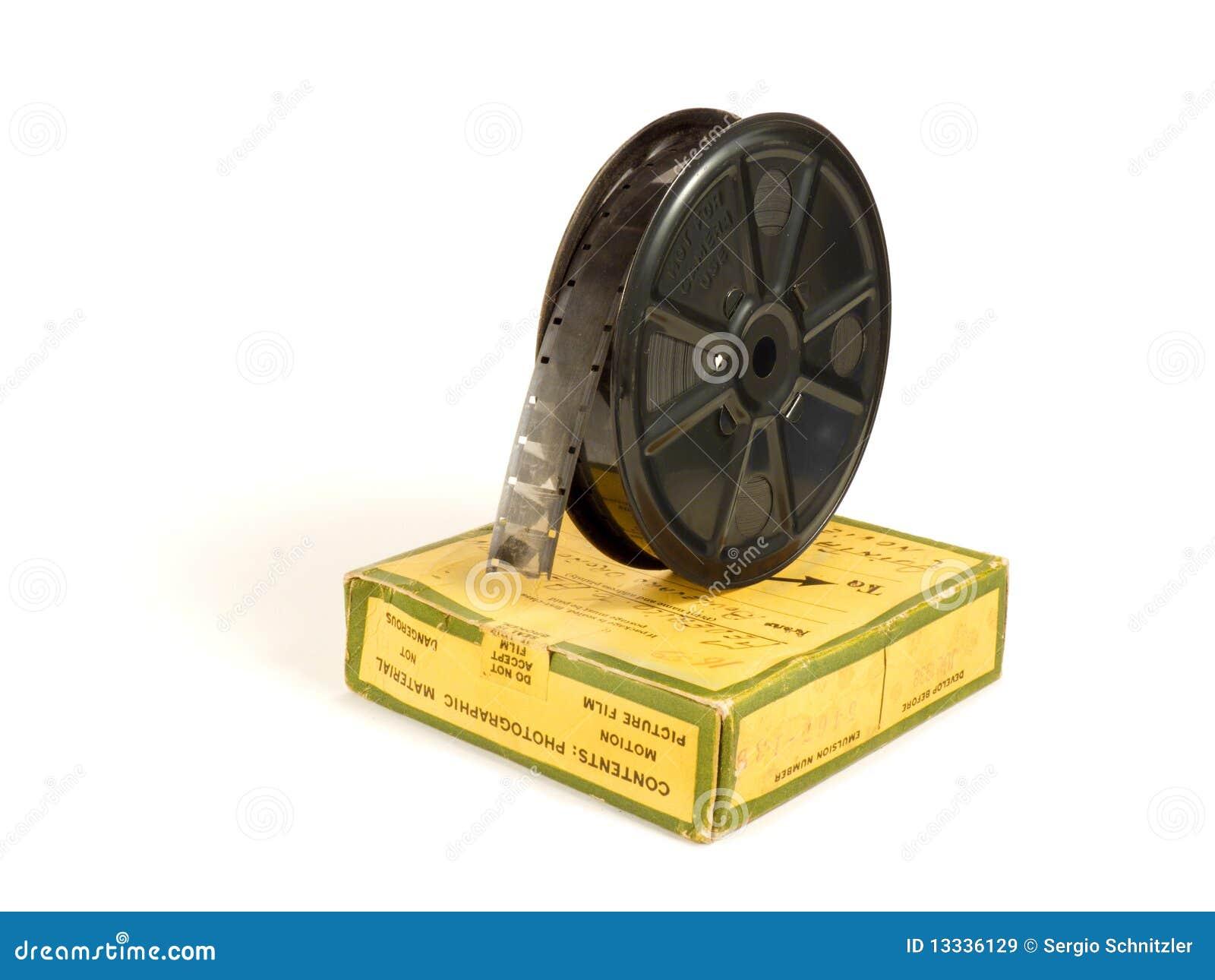 Carretel e caixa de película de 16mm 30m
