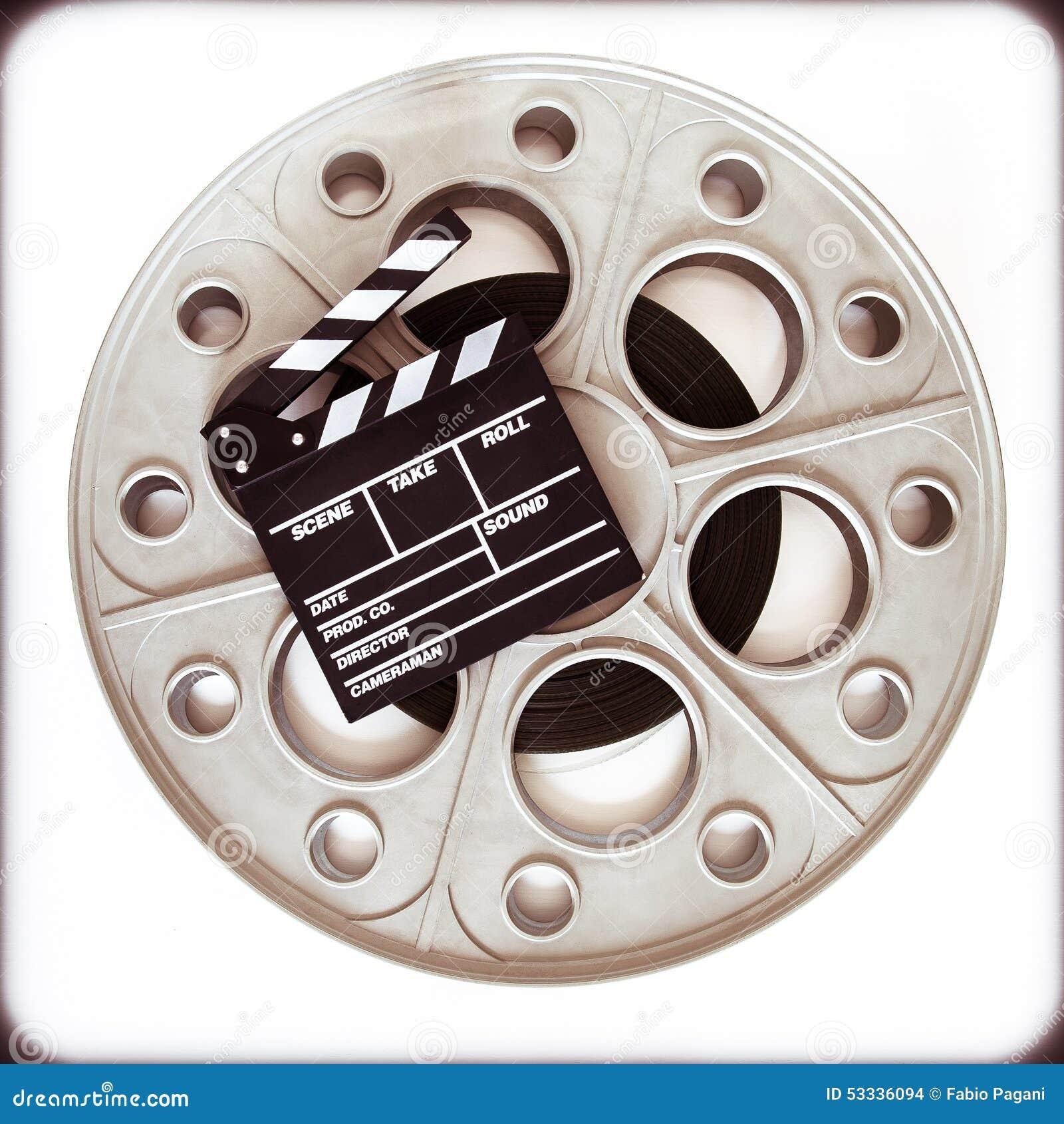 Carretel velho original do filme para o projetor de filme de 35mm com boa da válvula