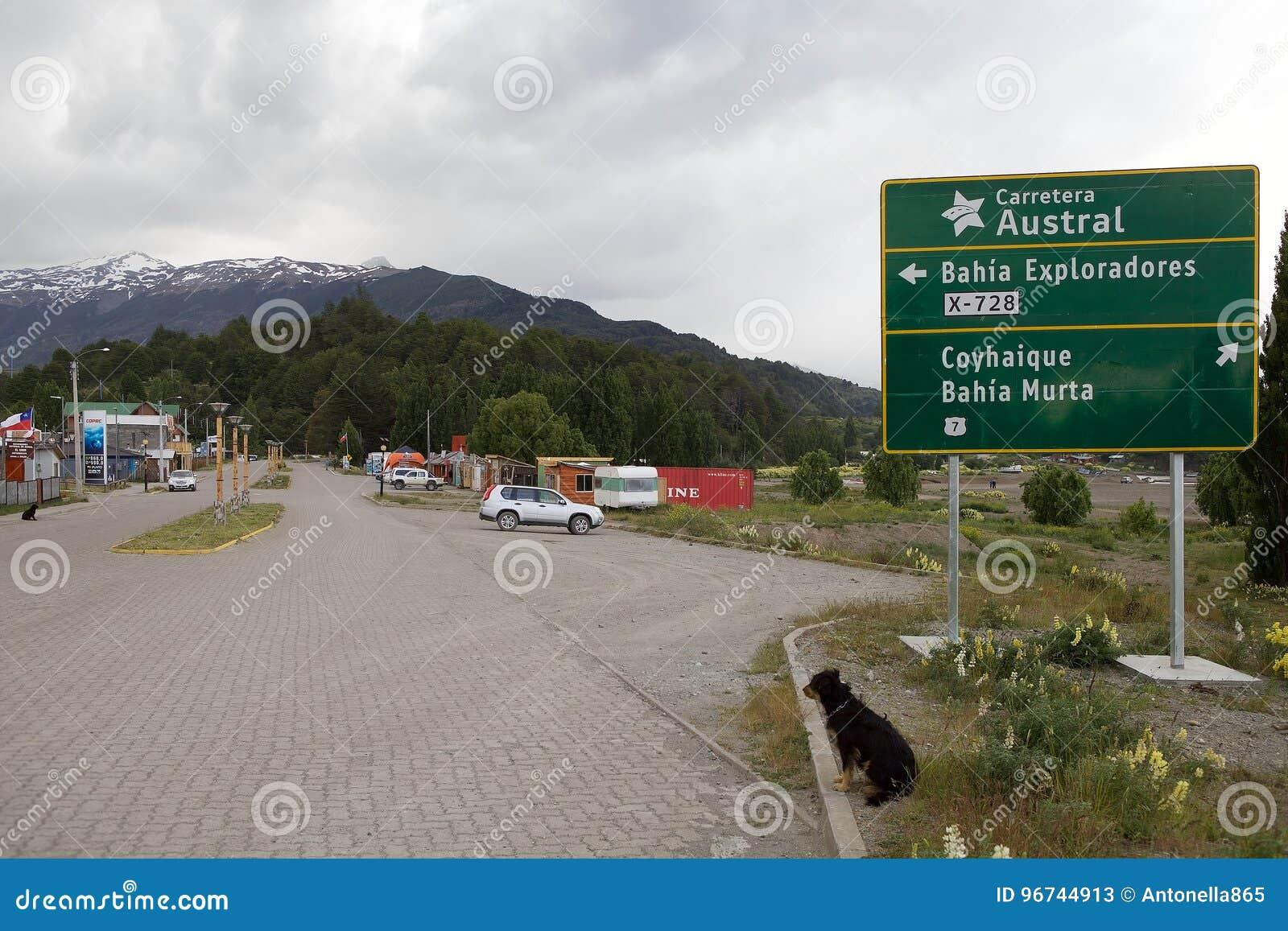 Carretera Austral em Puerto Rio Tranquilo, Patagonia, o Chile