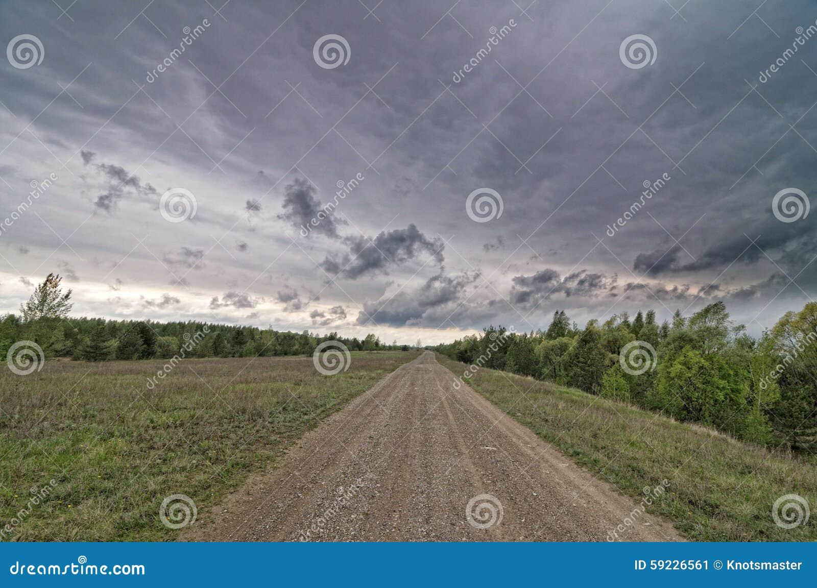 Carretera nacional en otoño