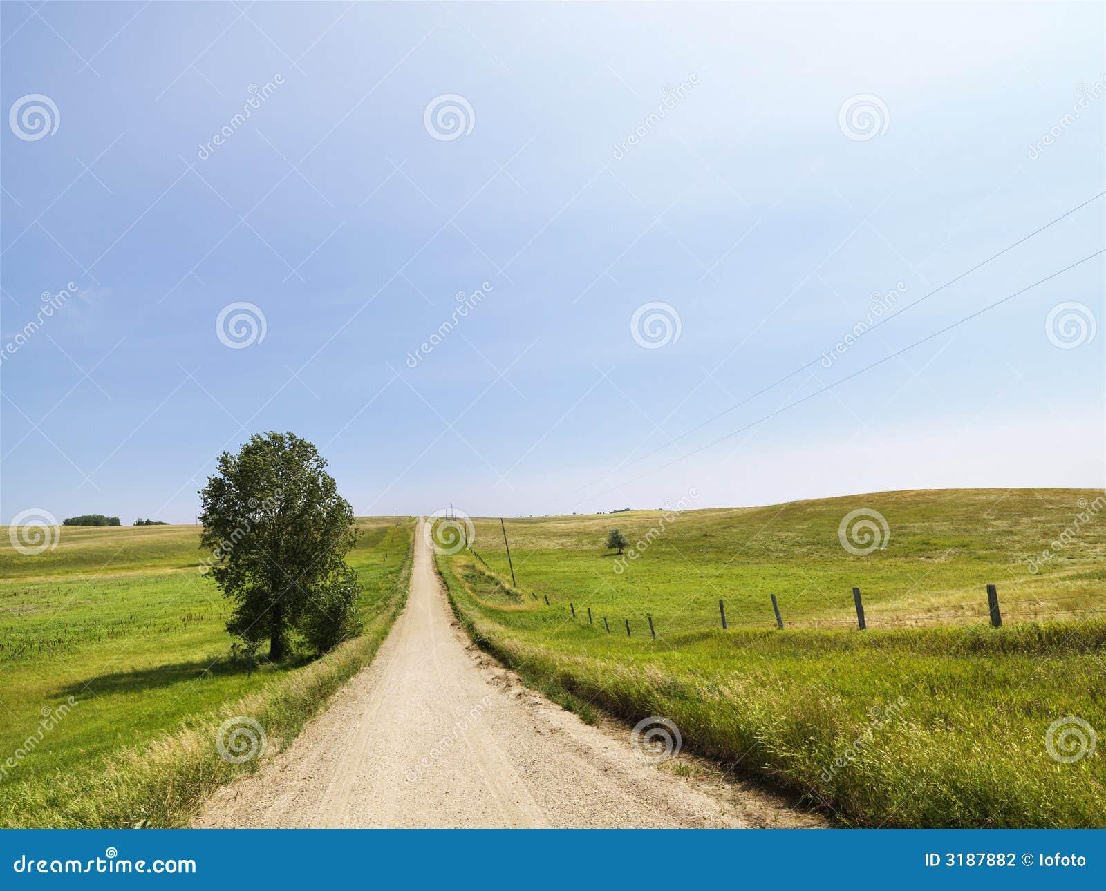 Carretera nacional rural.