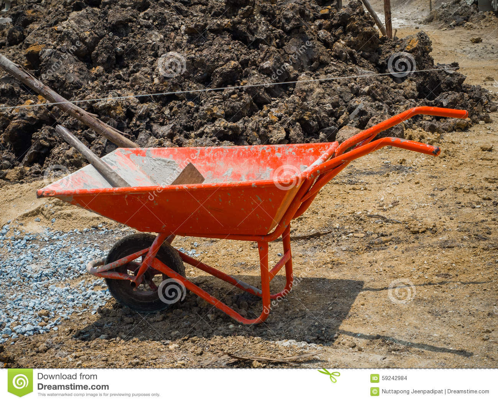 Download Carretilla foto de archivo. Imagen de construcción, metal - 59242984