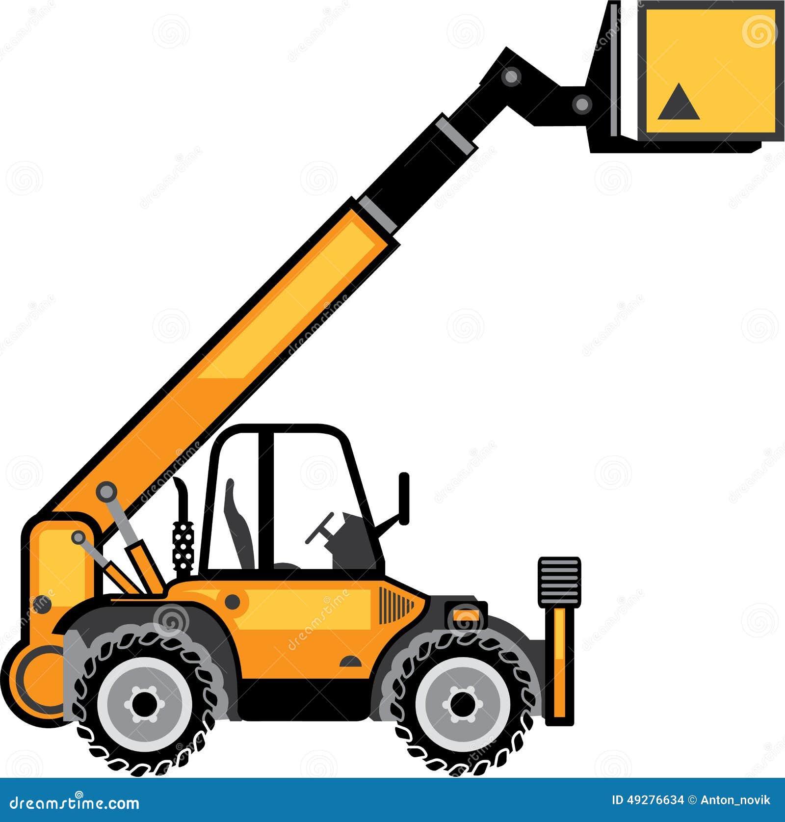 Carretilla Elevadora De La Construcción Ilustración Del Vector