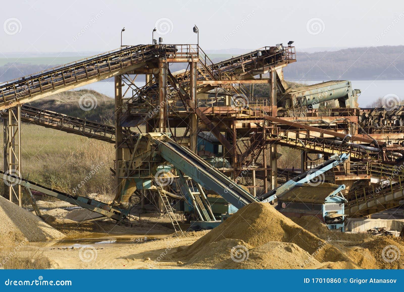 Carri re de sable photo stock image du exploitation for Carriere de cintheaux