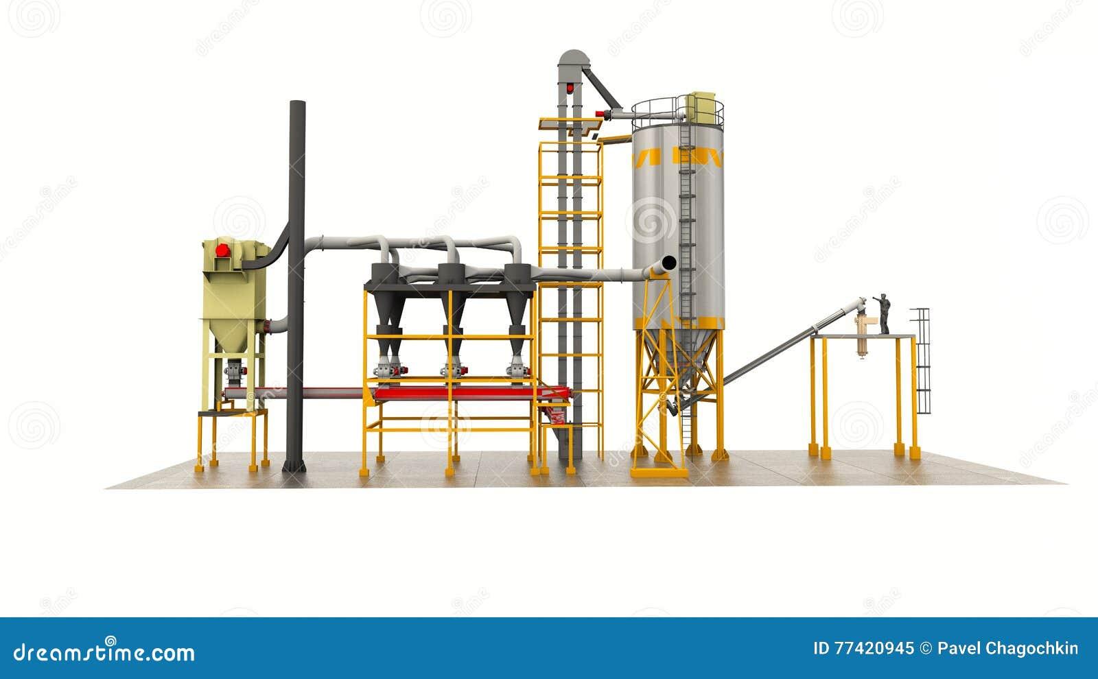 Carri armati per lo stoccaggio del granaio del grano for Piani di fattoria del granaio