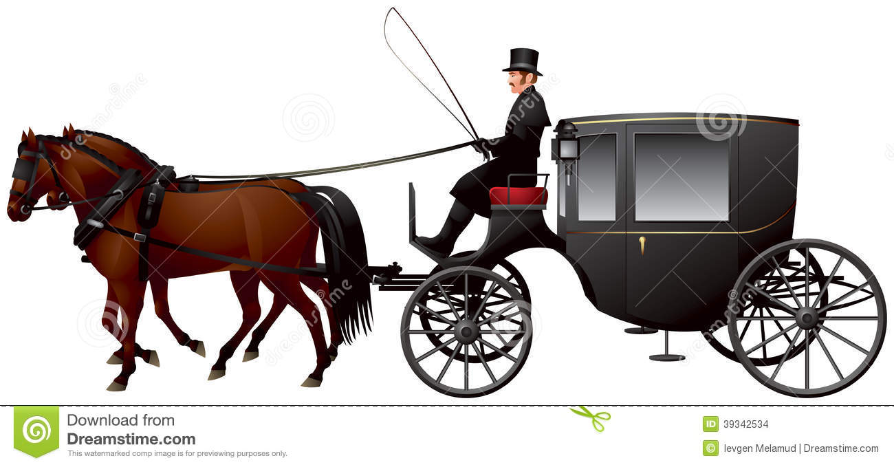 Stock Images Carriage Clarence Growler Pulled Two Horses Larger Version Brougham Cab Th Century London Taxicab Realistic Vector Image39342534 on Duck Book
