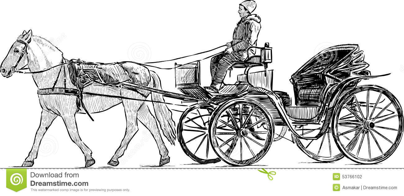 Carriage for tourists stock vector image 53766102 royalty free vector ccuart Choice Image