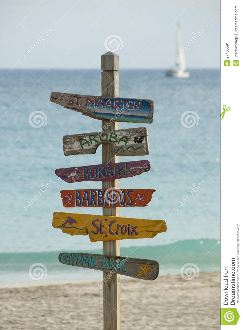 Caribbean Islands Sign Stock Image Image Of Sand Love