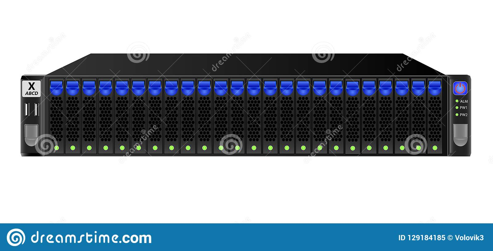 Carrier-class Server In Black For Mounting From 19-inch Rack