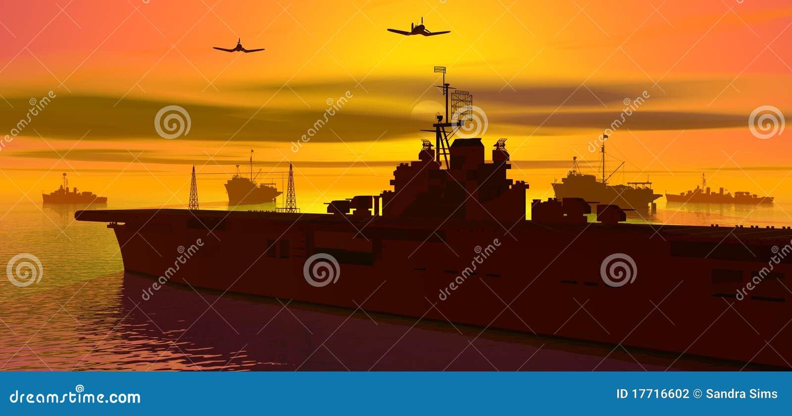 Carrier op zee
