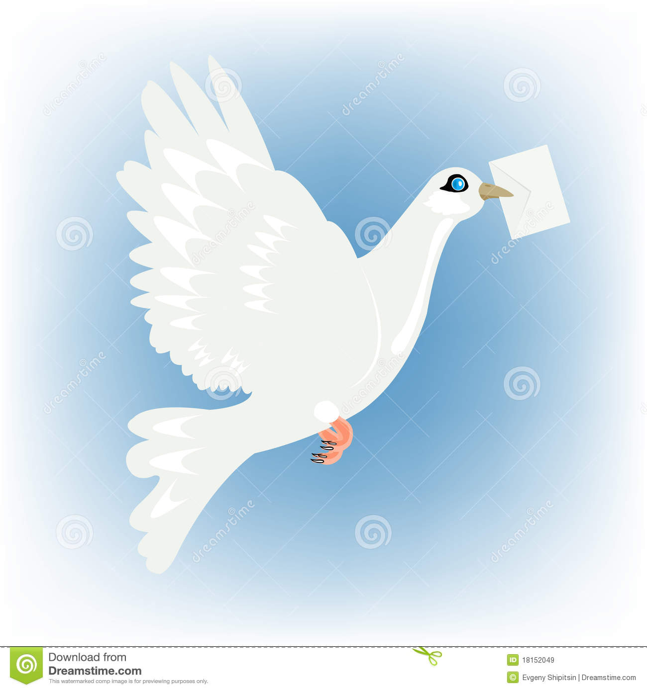 Carrier pigeon with letter in beak royalty free stock images image