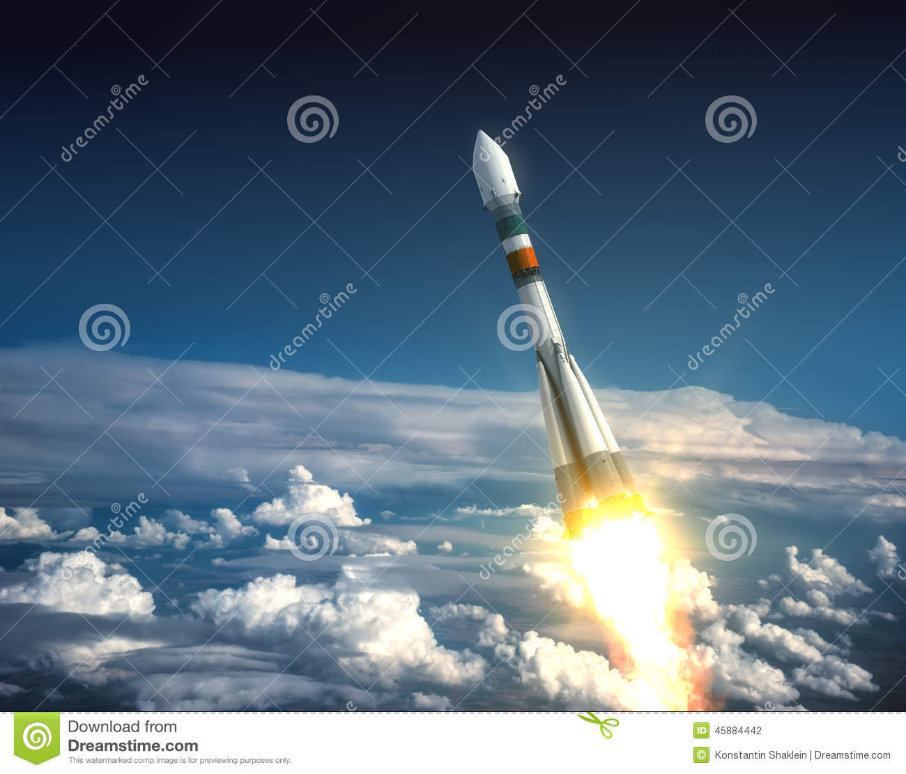 Carrier Rocket Take Off