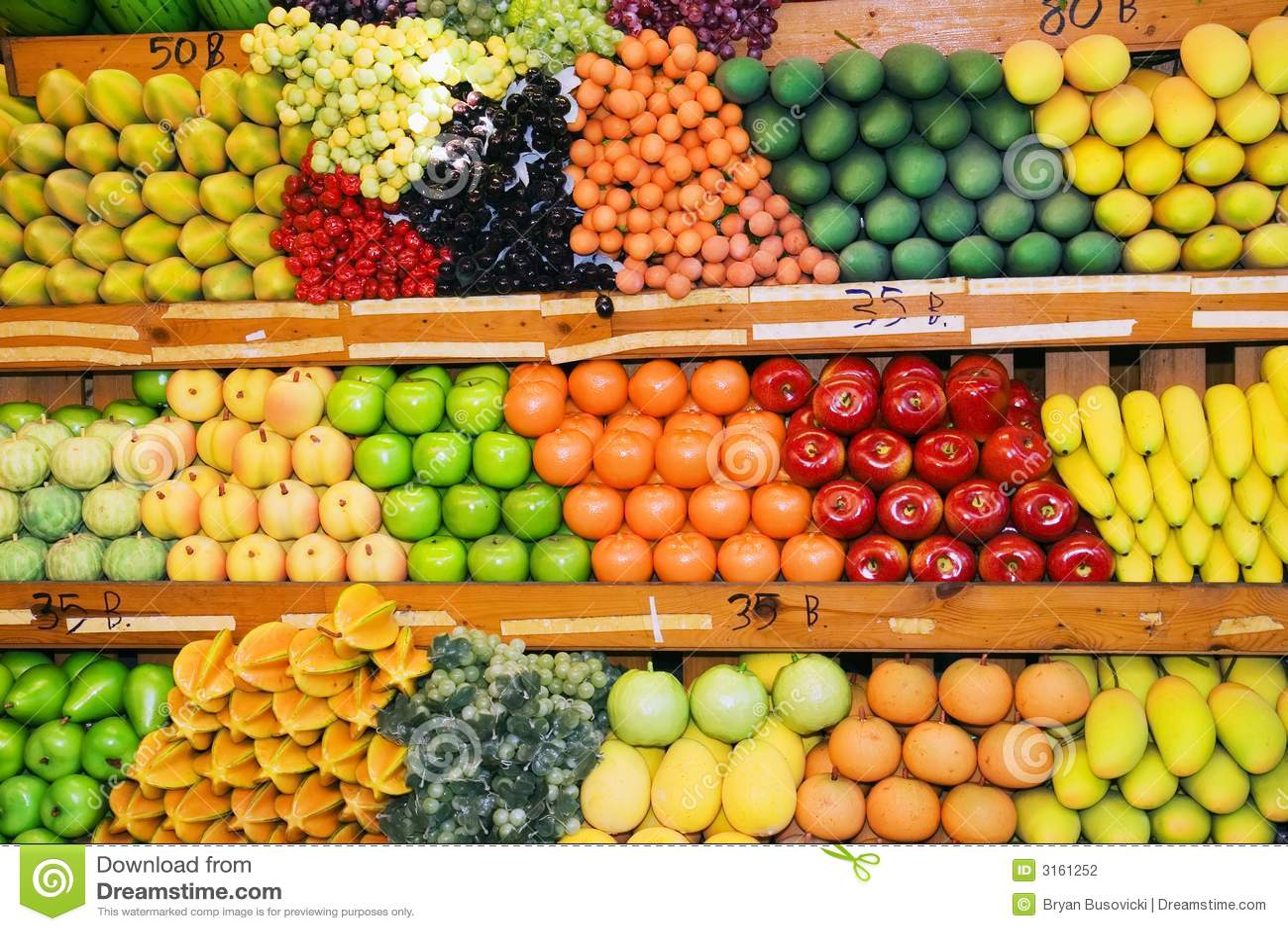 Carrinho de fruta tailandês