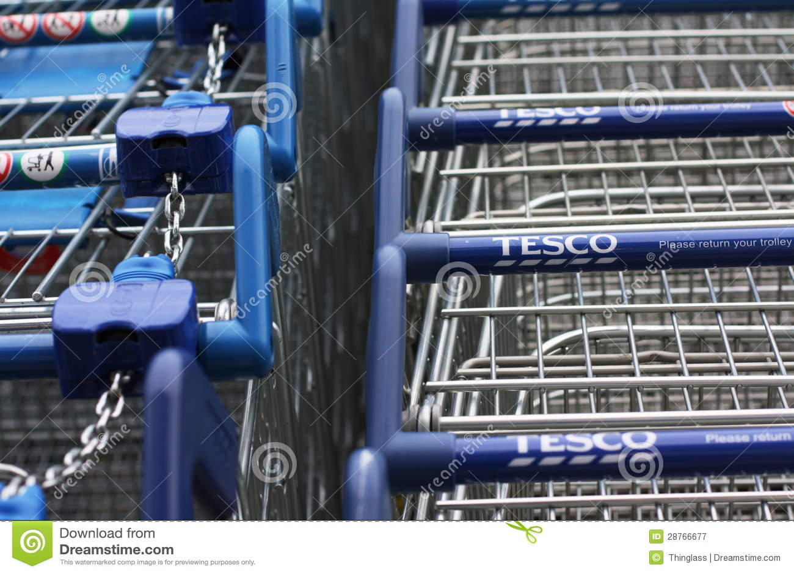 Carrinhos de compras de Tesco