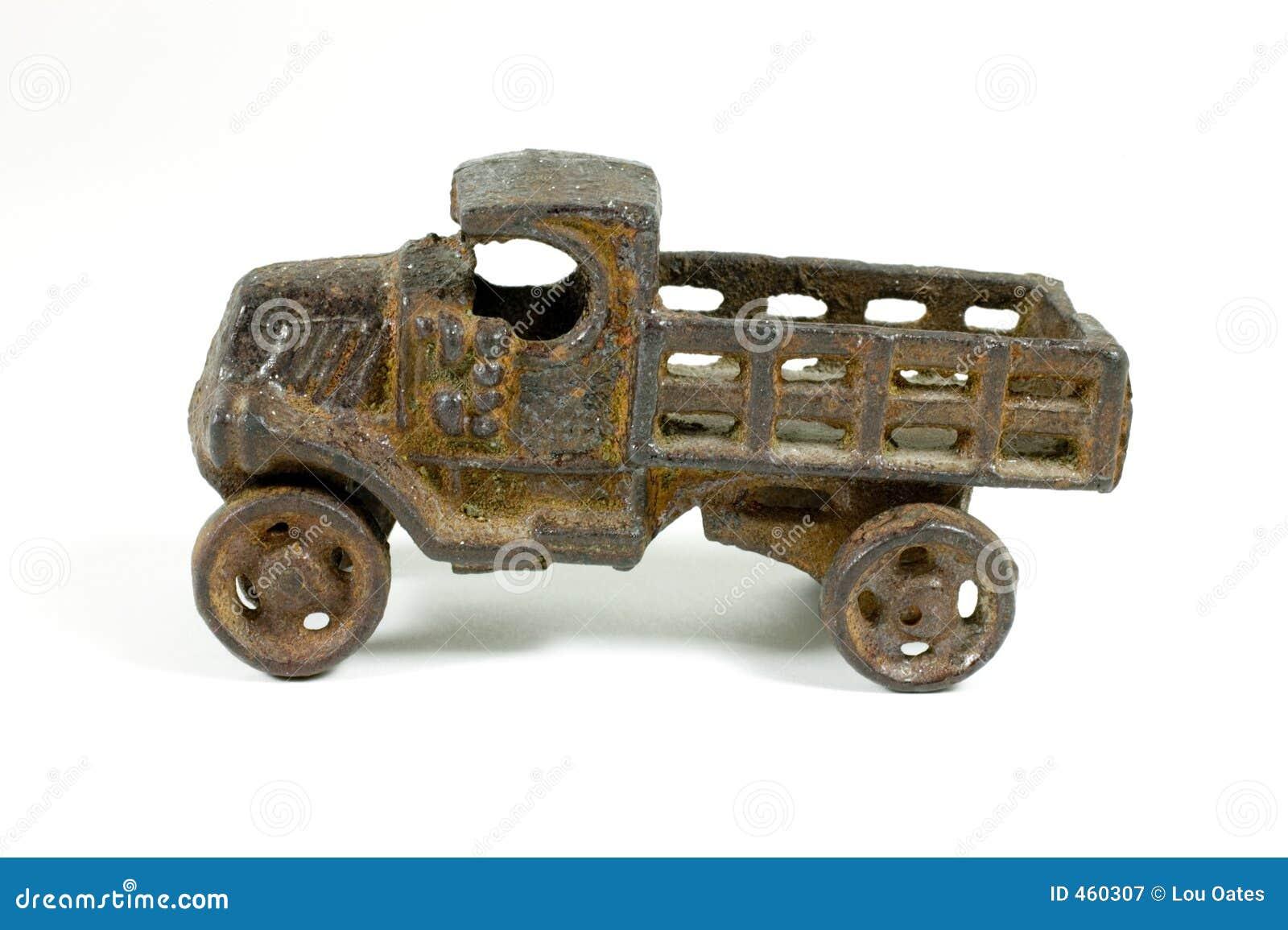Carro Antiguo Del Juguete Del Metal Fotograf 237 A De Archivo