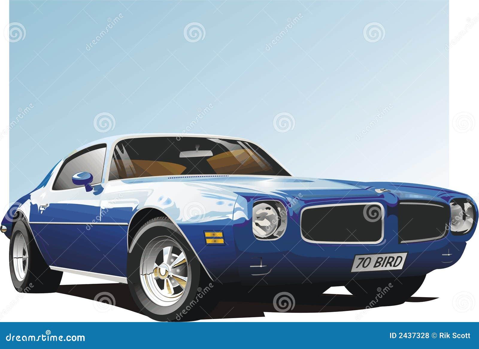 Carro azul do músculo