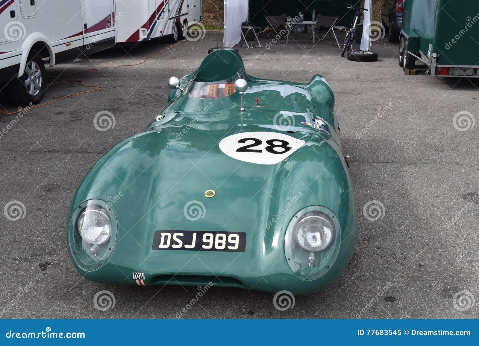 Carro clássico velho bonito de Lotus Race